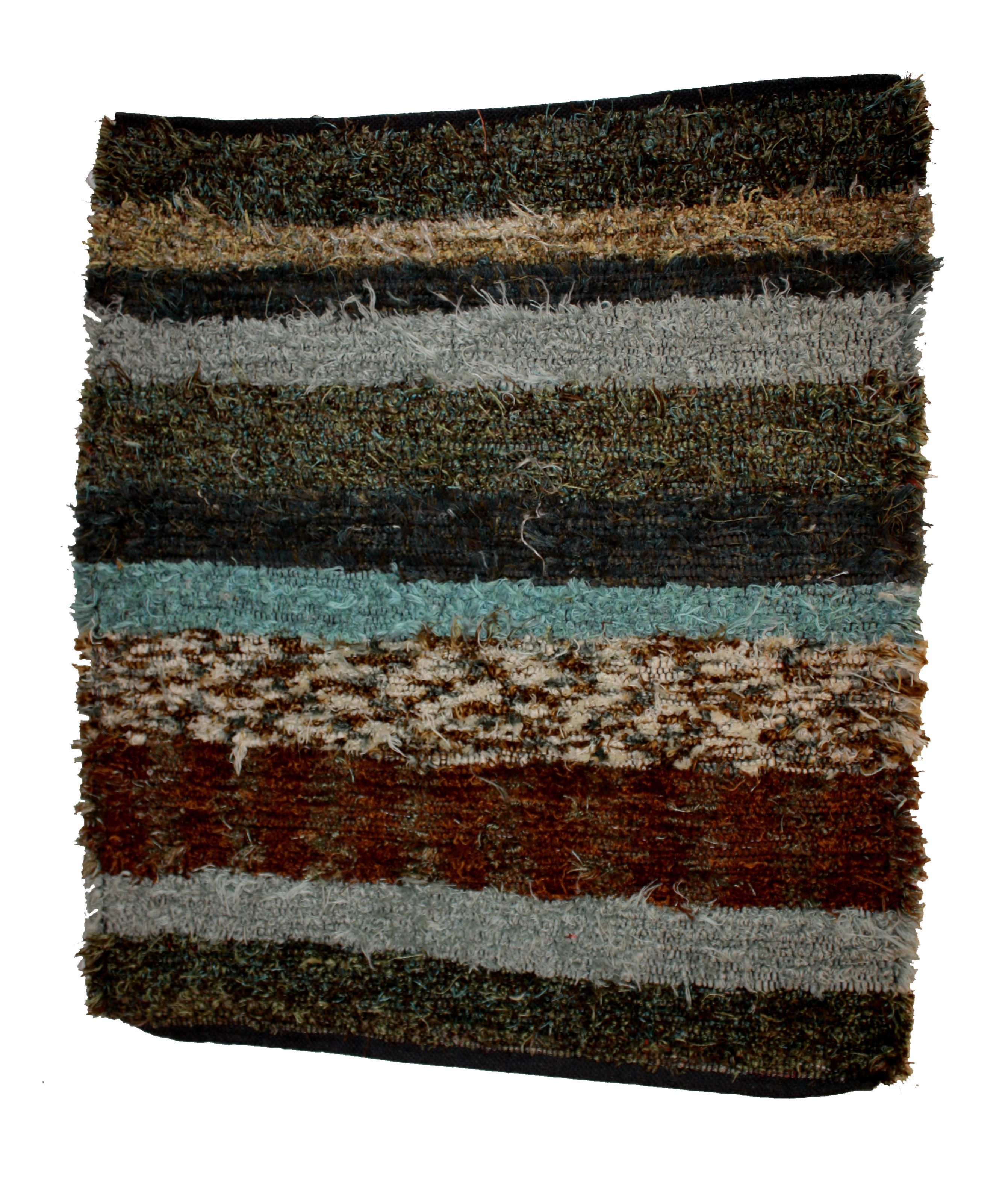 Turquoise Striped Rug